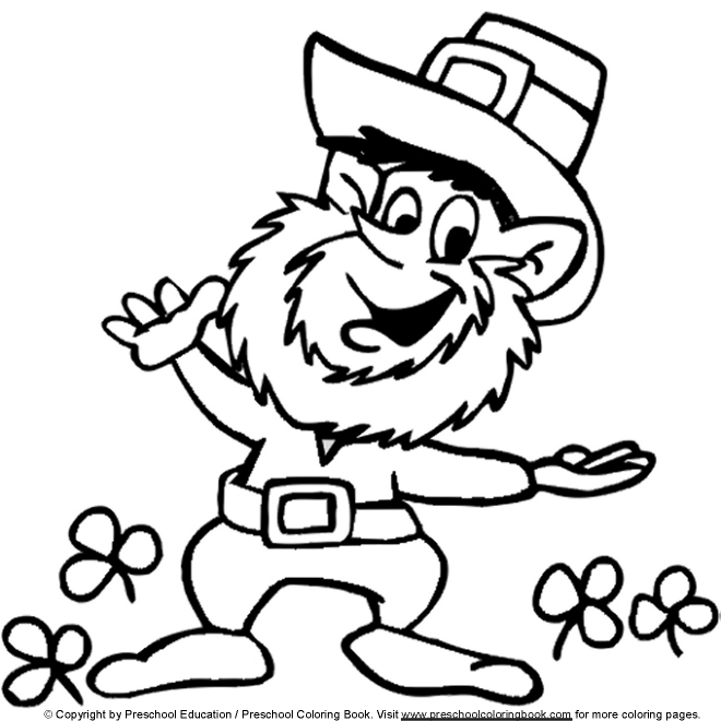transmissionpress: St. Patrick\'s Day Leprechaun Coloring Pages