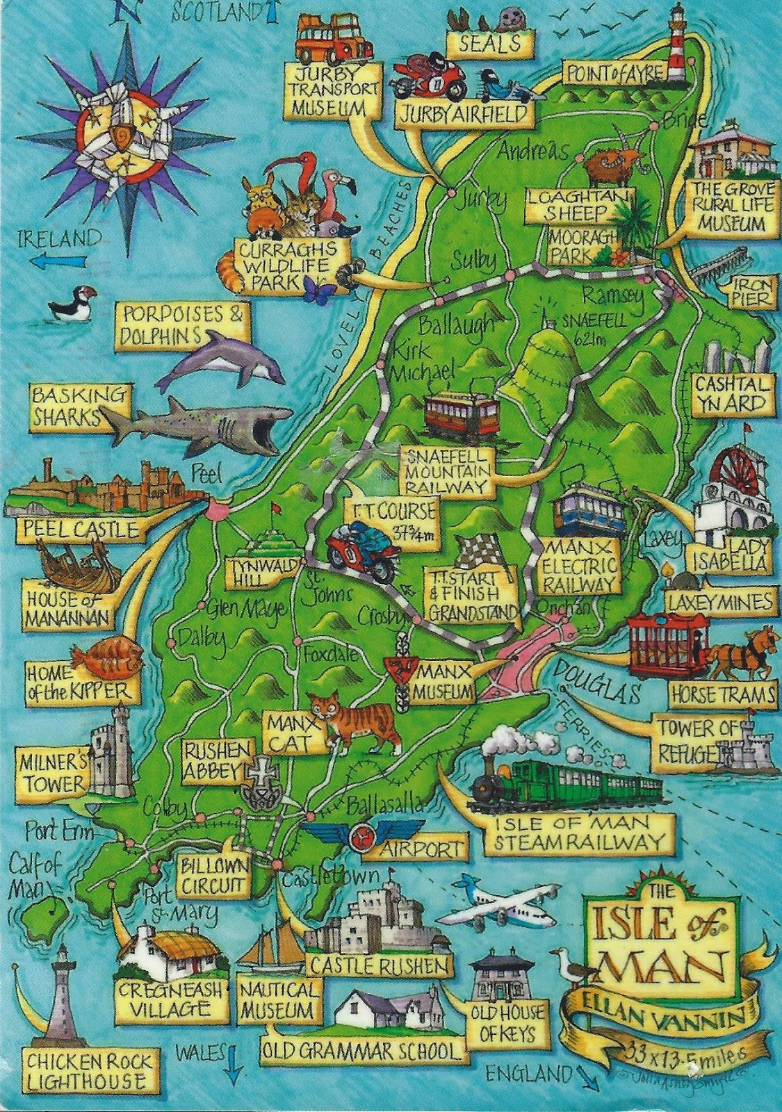 A Journey Of Postcards: Map Of The Isle Of Man