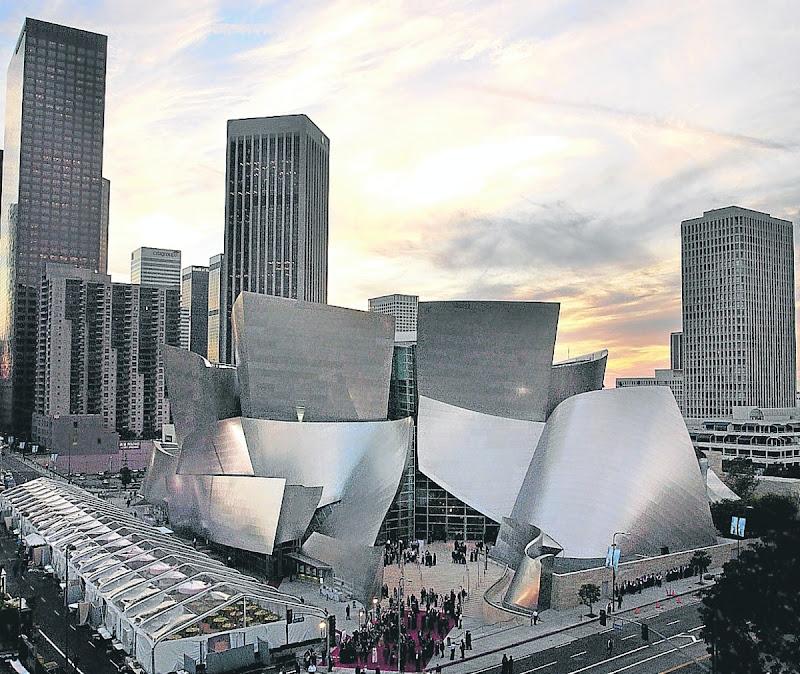 Walt Disney Concert Hall. Una de sus obras más celebradas, en Los Ángeles.