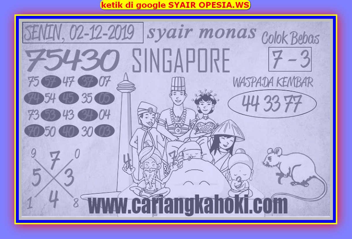 Kode syair Singapore Senin 2 Desember 2019 66