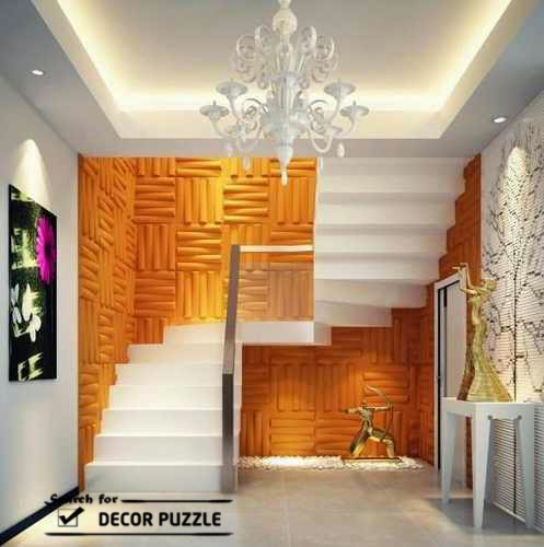 staircase wall decoration, decorative 3D wall art panels