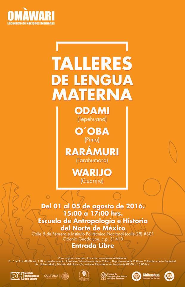 Talleres de Lengua Materna - FICH 2016