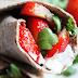 Wrap met Aardbeien en Geitenkaas