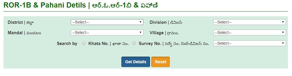 2019 Land details in Telangana How to check PAHANI details