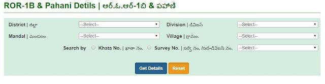 CCLA Telangana Land Details