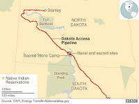 Dakota Access Pipeline (Credit: BBC) Click to Enlarge.
