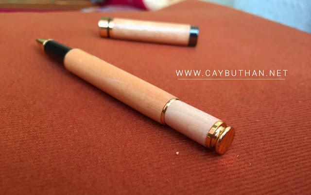 chót bút gỗ quà tặng vân trắng