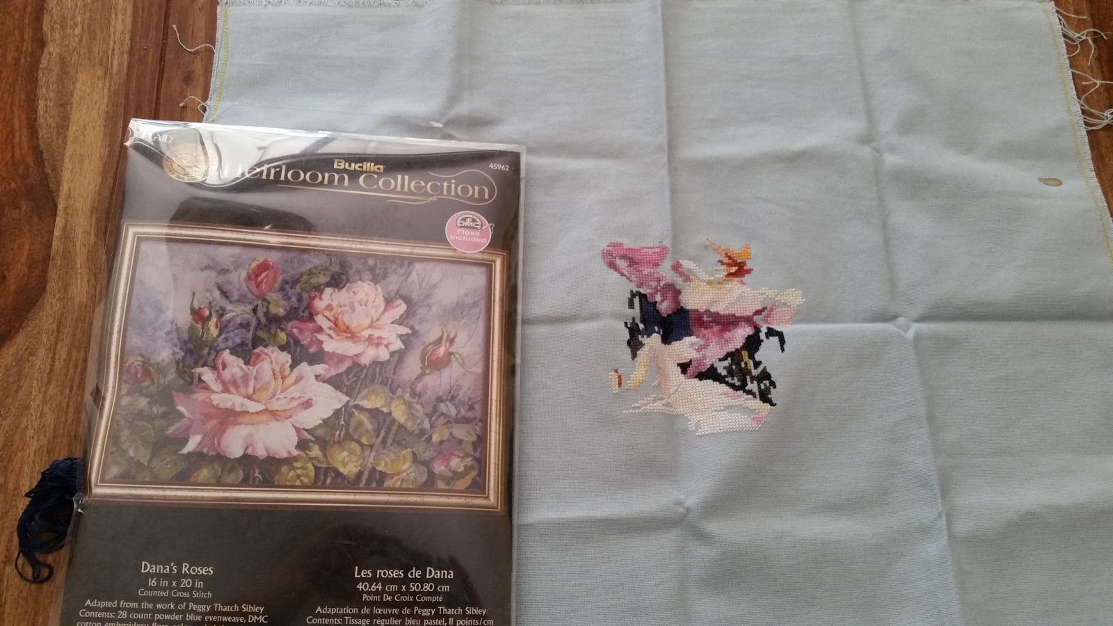 Blue Star Stitcher September 2016 Someday Pink Floral Embroidery Top I Loved The Design Though So Bought It With Best Of Intentions To Finish Sighsomeday