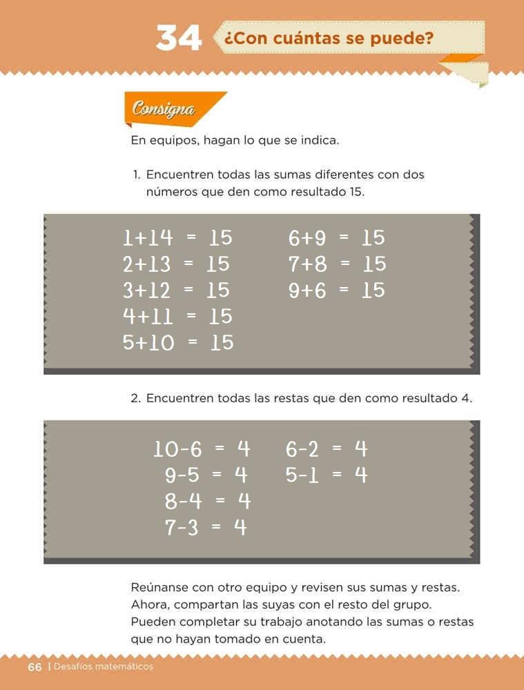 Libro de textoDesafíos Matemáticos¿Con cuántas se puede?Primer gradoContestado
