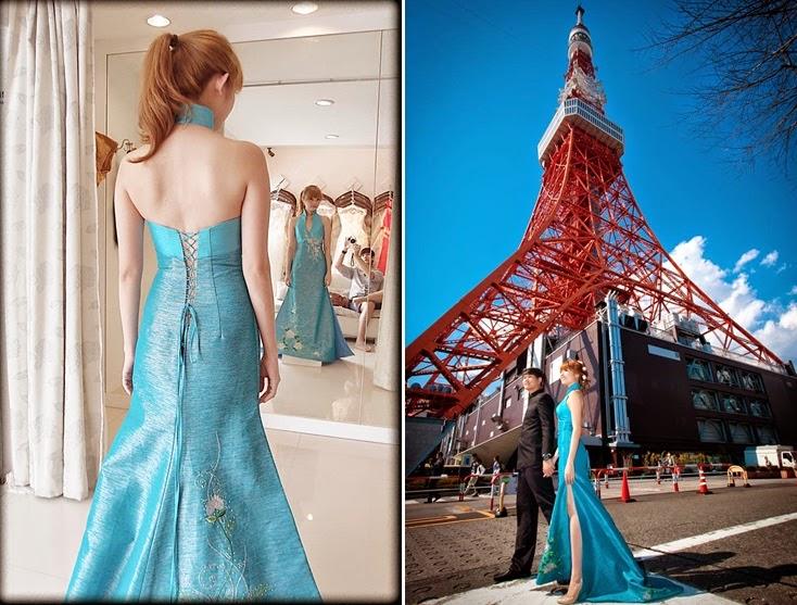 blue chines halter neck inspired dress