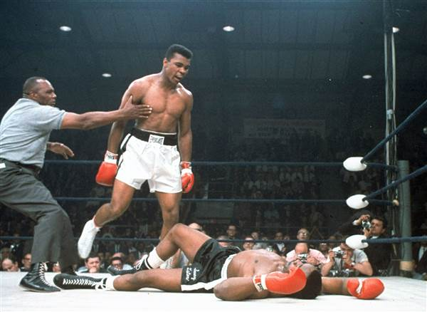 Muhammad Ali beat Sonny Liston in 1964 to win the Heavyweight Championship of the World