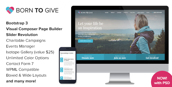 Born to Give v2.3 Wordpress Theme Free Download Nulled