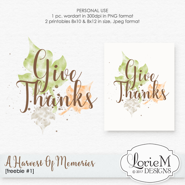 A Harvest Of Memories Bundle + FWP + Freebie