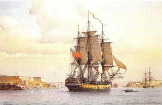 Navio español y coalicion antifrancesa