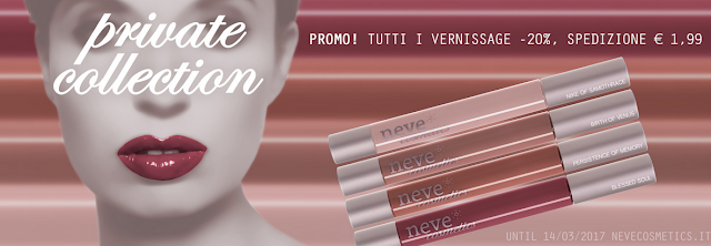 rossetto liquido vernissage, gloss neve cosmetics , private collection review
