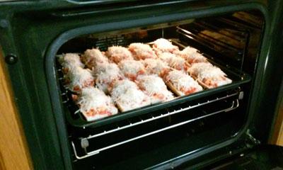 paninis en el horno