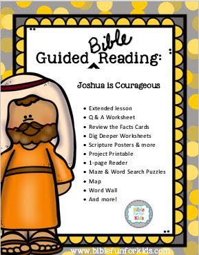 https://www.biblefunforkids.com/2018/11/joshua-guided-reading-pack.html