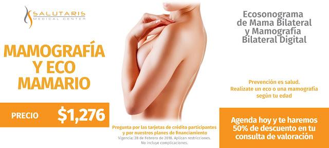 Paquete de mamografia y eco mamario