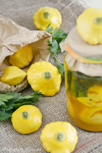patisony w curry, marynaty warzywne, marynowane patisony, patisony żółte, daylicooking, Małgorzata Kijowska