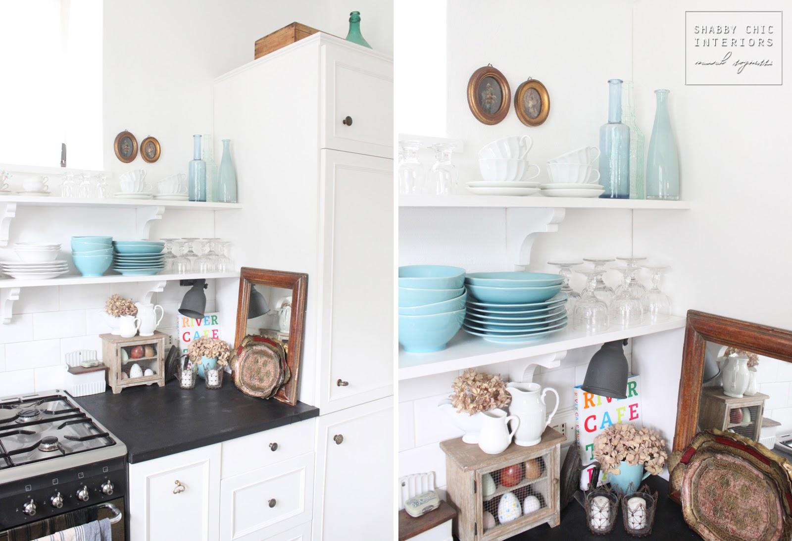 Uno specchio in cucina shabby chic interiors for Shabby chic cucina