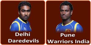 पुणे वॉरियर्स इंडिया बनाम दिल्ली डेअरडेविल्स 19 मई 2013 को है।