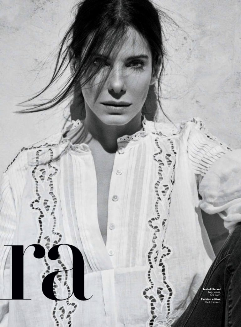 Sandra Bullock poses for InStyle June 2018