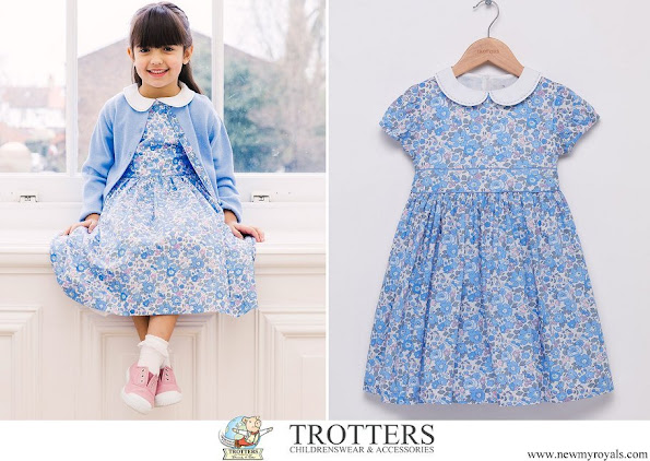 Princess Charlotte wore Trotters Betsy Dress from the Lily Rose collection