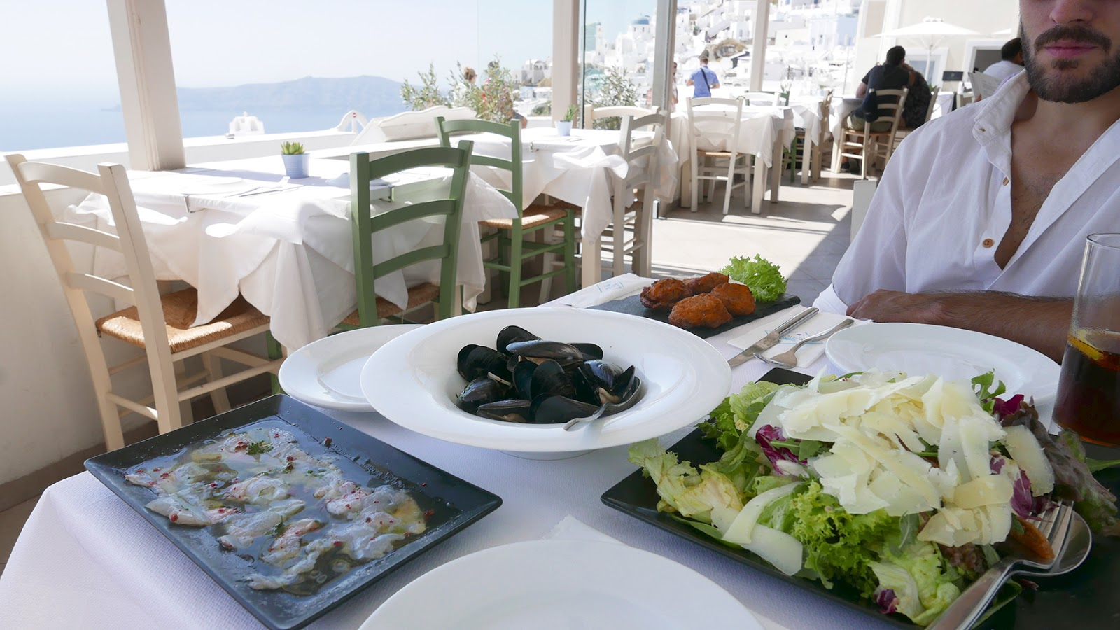Euriental | luxury travel & style | Santorini Greece, Imerovigli Aegeon Restaurant