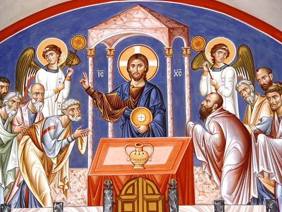 Risultati immagini per icona della comunione degli apostoli