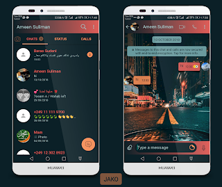 Road Dark Theme For YOWhatsApp & Fouad WhatsApp By Ameen Suliman