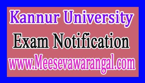 Kannur University BDS Part-2 Final Supply Dec 2016 Exam Notification