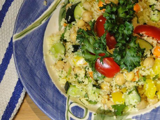 Couscous Garbanzo Bean Salad Recipe