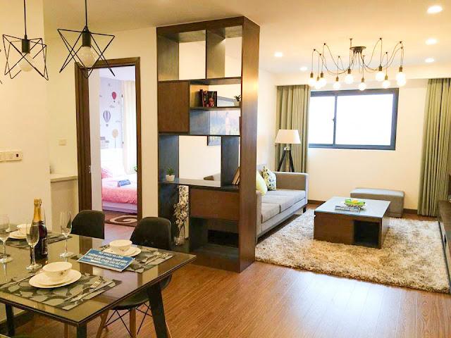 Phòng khách căn hộ mẫu tại FLC Star Tower