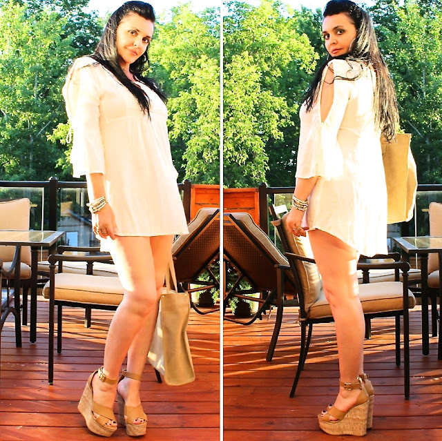 WHITE SUMMER DRESS, HIGH HEELS, TRENDY OUTFITS, SUMMER LOOKS, BEST BLOGGERS, FASHION ICON
