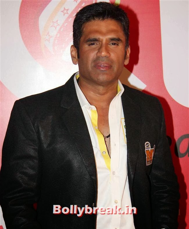 Sunil Shetty, Hot Celebs Grace the Celebrity Cricket League 4 Press Meet