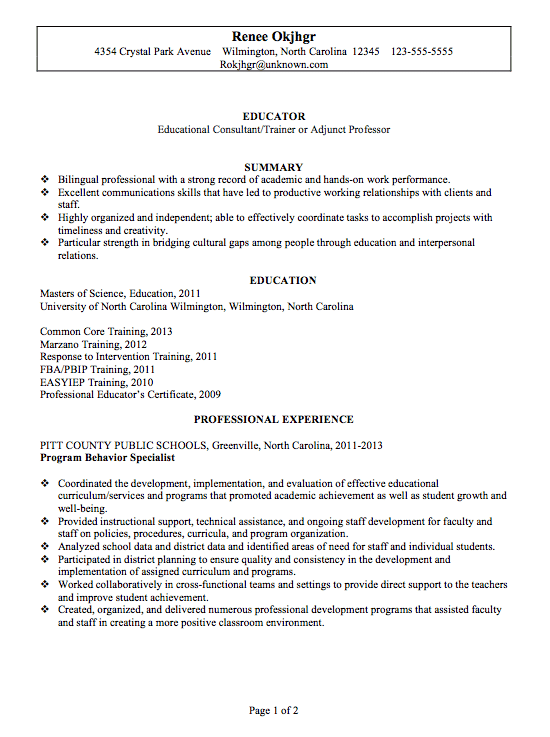 Examples Of Best Resumes 2014. It Resume Examples 2014 Federal
