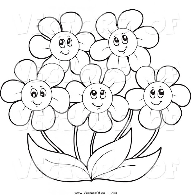 Printable Daisy Coloring Pages Design