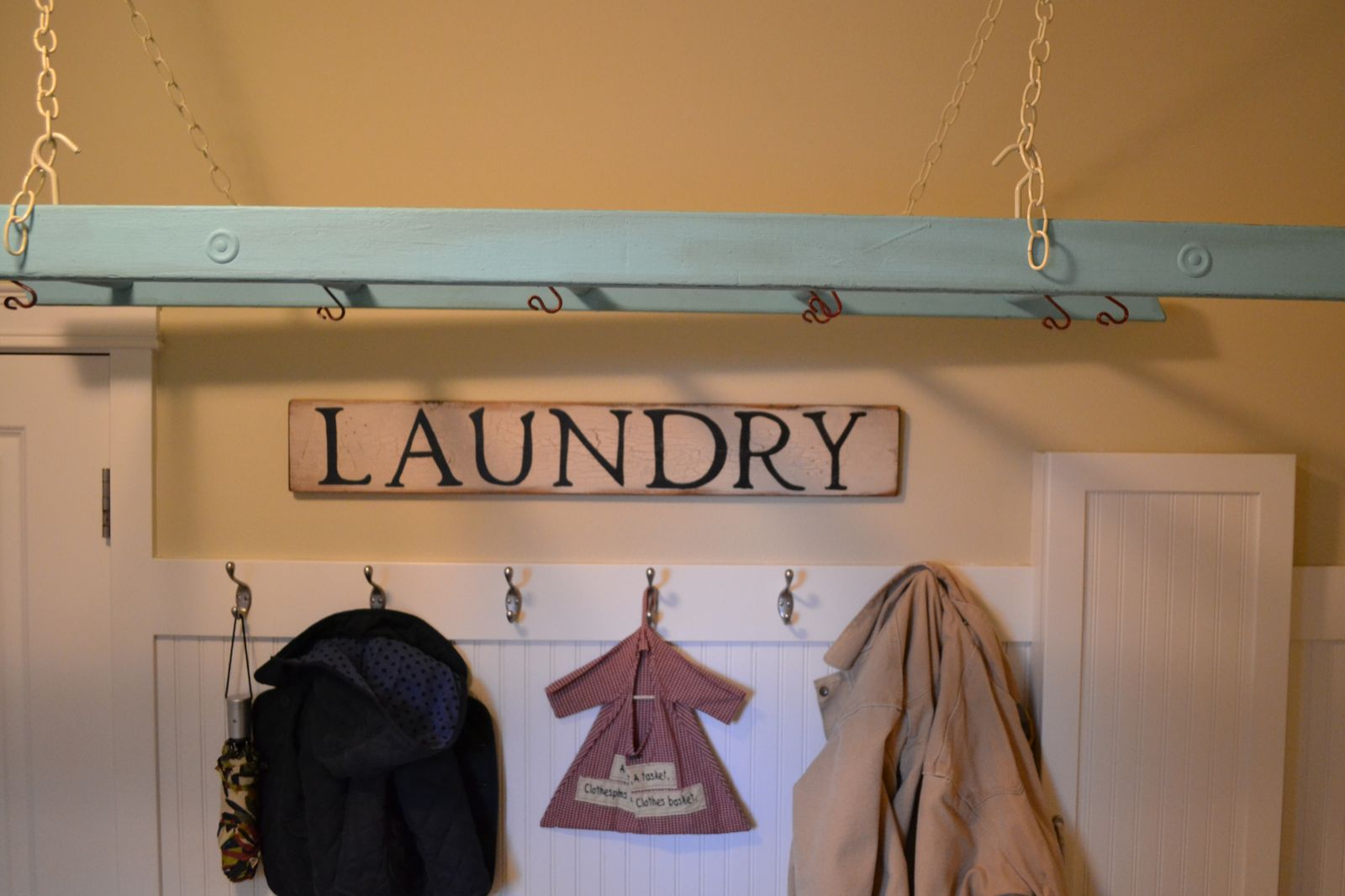 I've been using my ladder laundry rack for a few weeks now, and it has  quickly become one of my favorite things in the house!