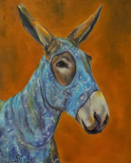 """Mo Vision"" , a donkey portrait in his slinky suit"
