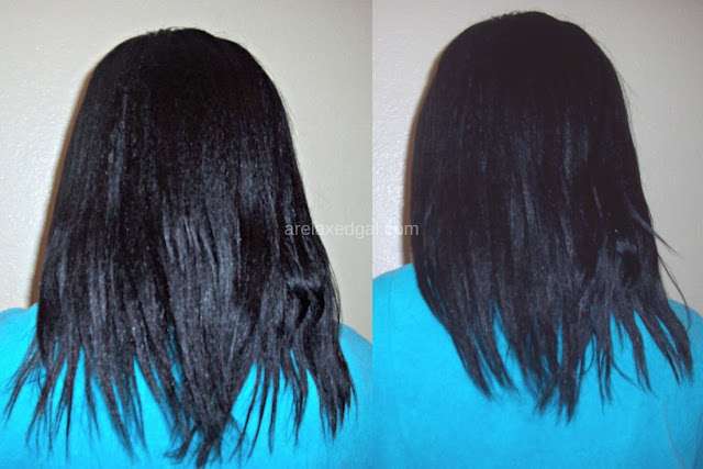 I flat ironed my hair! Yes, I actually let some direct heat touch my strands. See how it turned out in my wash day post at 14 weeks post 11/11/14 relaxer touch up. | arelaxedgal.com
