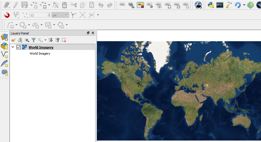 How to download srtm elevation data in qgis geodose world satellite imagery in qgis map canvas gumiabroncs Gallery