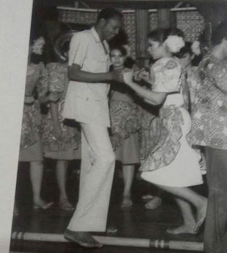 The other room? Check out this old photo of Buhari dancing with a pretty lady