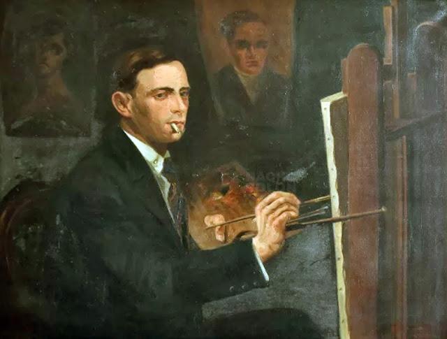 Eduardo Colombo, Self Portrait, Portraits of Painters, Fine arts, Portraits of painters blog, Paintings of Eduardo Colombo, Painter  Eduardo Colombo