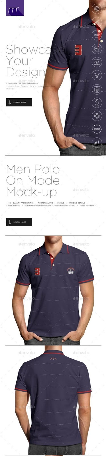 14. Polo Shirt on Model Mockup