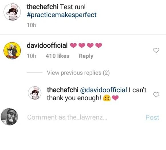 Davido and Chioma message