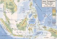 Peta wilayah dan relief  Indonesia