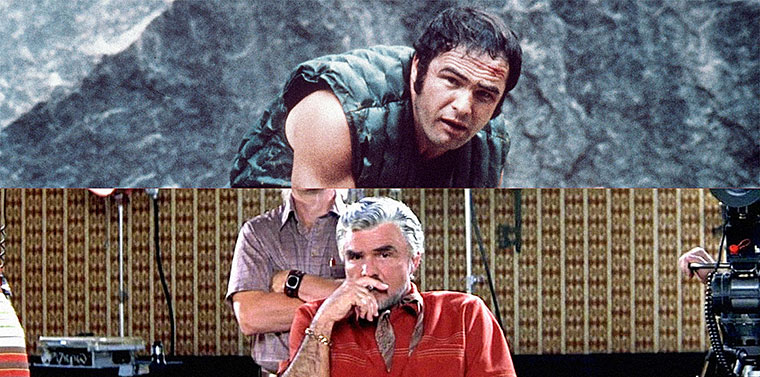 Burt Reynolds in DELIVERANCE (John Boorman, 1972) und BOOGIE NIGHTS (Paul Thomas Anderson, 1997). Quellen: Warner Bros. & New Line Cinema