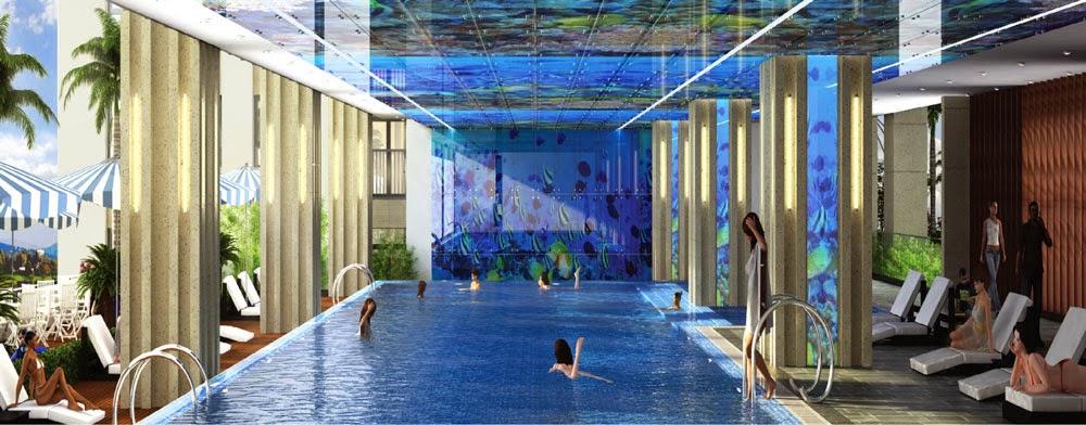 Bể bơi tại Chung cư Home City Trung Kính