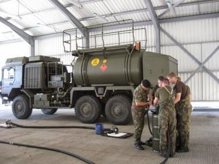 Служба горючего в армии Великобритании