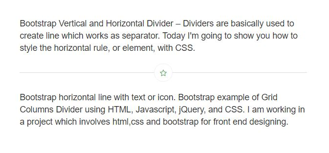 bootstrap horizontal divider